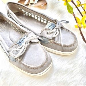 🤍SPERRYS top sider- silver mesh side accent 🤍